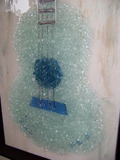 Shattered Glass Guitar on Etsy, $349.00