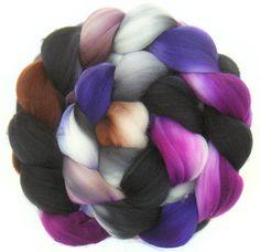 SUPERWASH MERINO roving top handdyed wool spinning fiber 3.7 oz from FeltStudioUK
