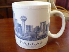 Starbucks City Mug Dallas  The Big D  18 oz USA Architect Series 2008 Coffee Mug