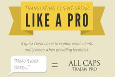 Infographic: translating client- speak like a pro https://www.kulzy.com/blog/index.html?id=75&event=xy