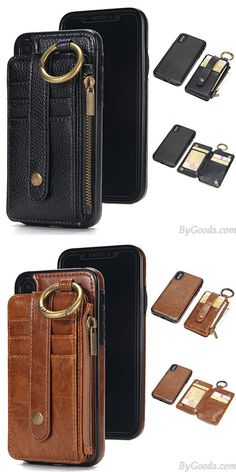 Creative Multi-function Ring Leather Phone Purse Wallet Split Iphone Cases for big sale! Vintage Iphone Cases, Iphone Cases For Girls, Girl Phone Cases, Funny Iphone Cases, Unique Iphone Cases, Leather Bag Pattern, Iphone 5s, Purse Wallet, Leather Wallet