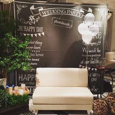 Photo booth back drop Wedding Images, Wedding Designs, Wedding Ideas, Welcome Photos, Wedding Photo Props, Photo Booth Backdrop, Chalkboard Wedding, Backdrops For Parties, Wedding Welcome