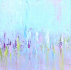 Abstract Landscape 'Me and You' oil painting on canvas - Sally Kelly