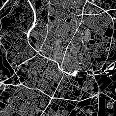 Austin, Texas. Downtown vector map.  #american #area #atlas #AUS #Austin #background #black #clean by #Hebstreit