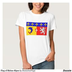 Flag of Rhône-Alpes T Shirts