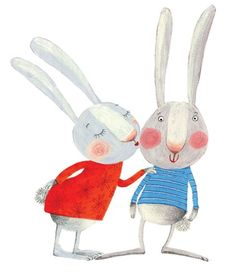 Barbara Vagnozzi Illustration - barbara vagnozzi, painted, acrylic, commercial, picture book, animals, rabbits, bunnies, bunny