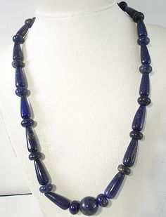 Beautiful Hand Crafted Lapis Blue Necklace 8591  #Unsigned #Necklace