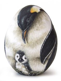 Roberto Rizzo emperor penguins 730x962 The art of Roberto Rizzo   rock painting and more