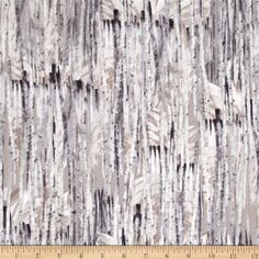 Kanvas Into the Woods Winter Birch Taupe from @fabricdotcom  Designed by Maria Kalinowski for Kanvas, in association with Benartex, take a trip to the great outdoors with this cotton print fabric is perfect for quilting, apparel, and home decor accents. Colors include shades of grey, taupe and ivory.