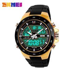 2016 New SKMEI Luxury Brand Men Military Sports Watches Digital LED Dual Display Wristwatches Plastic strap relogio masculino
