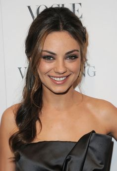 Mila Kunis Lookbook: Mila Kunis wearing Long Braided Hairstyle (13 of 14). Actress Mila Kunis made a boho-chic appearance with her braided side ponytail.
