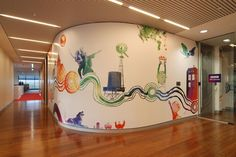 cool office wall to floor decals - Google Search