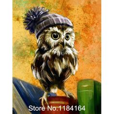 Cheap diamond painting, Buy Quality diamond painting diy directly from China cross stitch diamond Suppliers: New needlework full square drill diamond painting diy cross stitch diamond embroidery mosaic hat owl decoration BK-1644