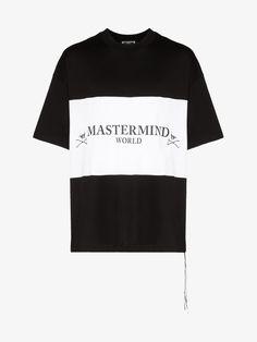 MASTERMIND JAPAN-t-shirts-MASTERMIND JAPAN LOGO AND SKULL PRINT COTTON T-SHIRT. #mastermind-japan #t-shirts Skull Logo, Skull Print, Black And White Logos, Black Love, Mastermind Japan, Japan Logo, Black Skulls, Brown Fashion, Peace And Love