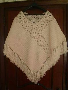 Crochet poncho shawl granny squares Ideas You are in the right place about crochet clot Poncho Shawl, Knitted Poncho, Crochet Cardigan, Crochet Scarves, Crochet Shawl, Crochet Clothes, Crochet Lace, Capelet, Love Crochet