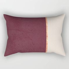 Excited to share the latest addition to my #etsy shop: Lumbar Pillow, Rectangular Pillow, Burgundy and Gold, Gold and Beige, Home Decor, Minimalist, Scandinavian decor, Decorative pillow, Cushion #lumbar #throwpillows #pillows #homedecor #interiordesign #minimalist