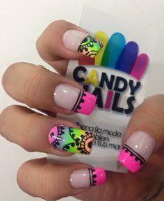 Manicure, Pedicure Nails, Spring Nails, Summer Nails, Hair And Nails, My Nails, Simple Nail Designs, Nail Stickers, Stiletto Nails