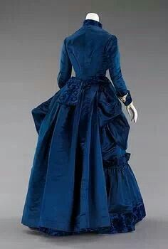 1885 Augustine Martin afternoon dress. The Met.