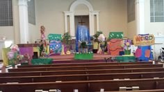Sanctuary ready for VBS and the Sing and Play Stampede.