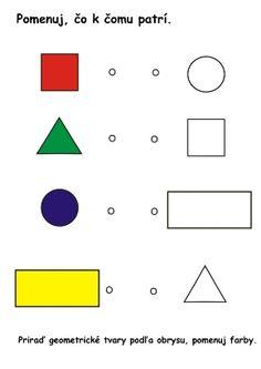 geometrické tvary -pracovný list