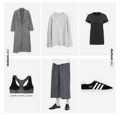 Den Wochenbeginn starten wir mit einem schlichten Look: Langer Mantel, Oversize-Pullover, Palazzohose und adidas 'Gazelle'. Hier entdecken und shoppen: http://sturbock.me/aOg