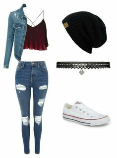 """Casual Outfit A fashion look from July 2017 by that-vintage-nerd featuring Topshop, Converse and Betsey Johnson"""", """"pinn… Teenage Girl Outfits, Cute Outfits For School, Cute Casual Outfits, Teen Fashion Outfits, Swag Outfits, Mode Outfits, Cute Fashion, Outfits For Teens, Stylish Outfits"""