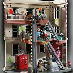 PLAYMOBIL Ghostbusters Firehouse *** Visit the image link more details. (This is an affiliate link) Playmobil Ghostbusters, Ghostbusters Firehouse, The Real Ghostbusters, Stay Puft, Toy Cars For Kids, Baby Bath Toys, Ghost Busters, Top Toys, Christmas Toys
