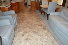 New luxury vinyl flooring in an 07 Monaco camelot