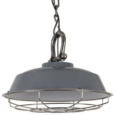 Afmetingen: Ø64 x 42 cm Materiaal: metaal + ruw nickel Fitting: 1x E27 Excl. LED lamp / Gloeilamp
