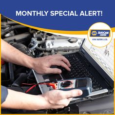 Monthly special ALERT! Get your car's Computer Scan Testing done at Kirk Motors for only $49.95.  #Napa #Kirkmotors #servicedepartment #monthlyspecial #computerscantesting #discount #autocare