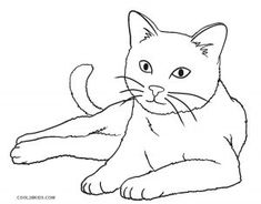 Cat Coloring Page, Animal Coloring Pages, Coloring Books, Nyan Cat, Cat Drawing Tutorial, Cat Template, Cat Character, Cat Quilt, Cat Colors