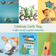 Celebrate Earth Day ! Crafts out of recycled materials