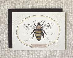 Love / Anniversary Card - Bees Knees. $4.00, via Etsy.