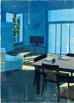 ◇ Artful Interiors ◇ paintings of beautiful rooms - Tatsuro Kiuchi