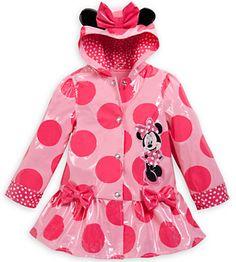 Minnie Mouse Ears Rain Jacket for Girls
