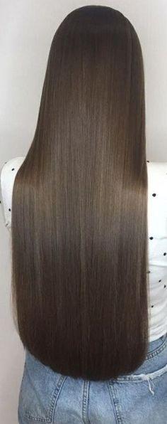 Long Silky Hair, Long Brown Hair, Super Long Hair, Beautiful Long Hair, Gorgeous Hair, Dark Brunette Hair, Hair Images, Hair Goals, Straight Hairstyles