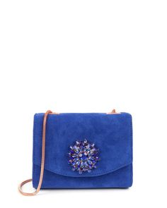 Gem brooch clutch - Bright Blue | Bags | Ted Baker
