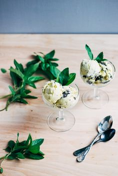 basil and mint chocolate chip ice cream // brooklyn supper