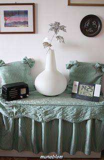 SALEM: copribaule e cuscini ricavati da copriletto