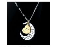 Gift for Sister - Sentimental Pendant Featuring Classic Saying, 'I Love You to the Moon and Back' by Plum Street Gifts & More LLC -- Awesome products selected by Anna Churchill