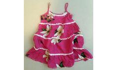 Detské šaty  pestré ružové- 2-3 roky