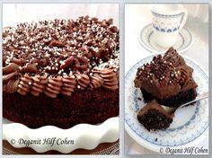עוגת קוקוס ופודינג שוקולד - על קצה המזלג - תפוז בלוגים