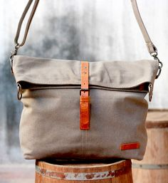 Canvas Leather Messenger Bag (Top Design Handbags)