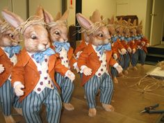 R. John Wright Dolls - Production of marching March Hares