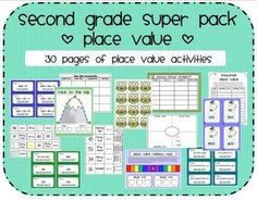 30 pages of place value activities and math centers.