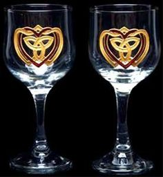 Celtic Glass Designs Set of 2 Hand Painted Wine Glasses in a Celtic Trinity Heart Design. by Celtic Glass Designs, http://www.amazon.com/dp/B005E7PY82/ref=cm_sw_r_pi_dp_eVHUrb1Z33J3S