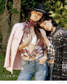 kendall jenner bruce weber dujour04 Kendall & Kylie Jenner Pose for Bruce Weber in Dujour Magazine