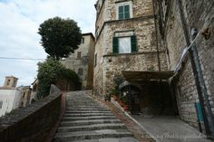 Perugia city of staircases and arches in central Italy