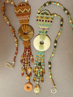 Handmade Jewellery Collection - great inspiration for tapestry neckpieces too