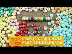 Video! LENTIL 2 TWO HOLE Flat Round Czech Glass Beads - New Arrivals     #dawanda #dawanda_de #dawandashop #etsy #etsyshop #etsystore #etsyfinds #etsyseller #amazon #amazondeals #alittlemercerie #lentil #twoholes #2hole #flat #round #roundbeads #czechbeads #glassbeads #czechglassbeads #czechglassjewelry